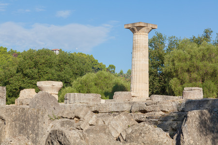 Temple of Zeus at Olympia in Greece photo
