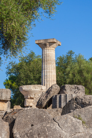 Olympia Greece ruins of Temple of Zeus photo