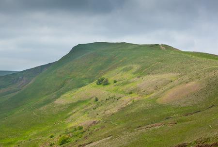 mam: View along Mam Tor Derbyshire England with stormy sky