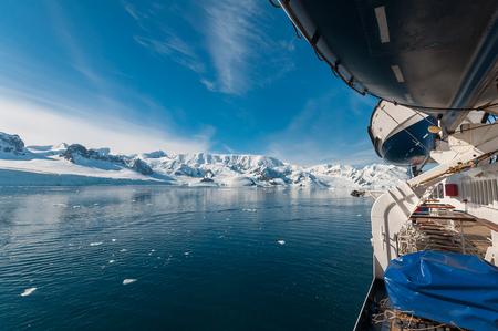 Paradise Bay Antarctica ocean and mountain view Stock Photo