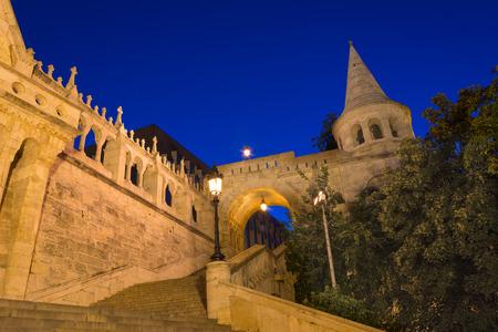 canonical: The Fishermans Bastion Budapest Hungary Illuminated at Night