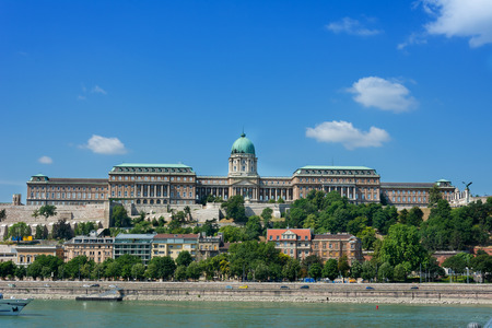 View of old Castle across the Danube Budapest Stock Photo
