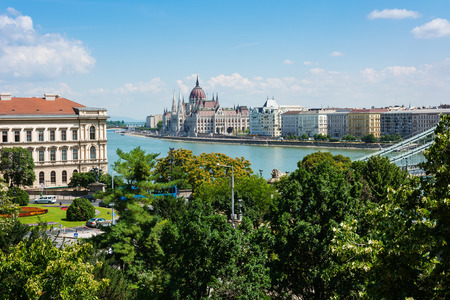 Hungarian parliament building Budapest over the Danube