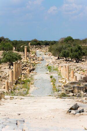 ruin: Ancient ruin at Umm Qais in Jordan