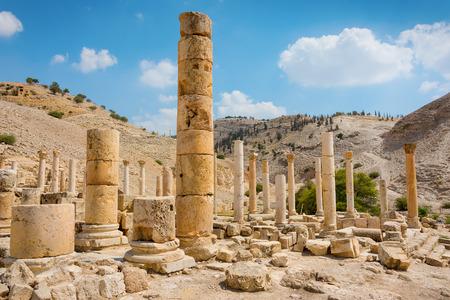 Ancient ruins of Pella Jordan Banco de Imagens - 39655042