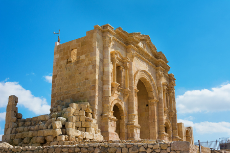 hadrian: The Arch of Hadrian at Jersah in Jordan