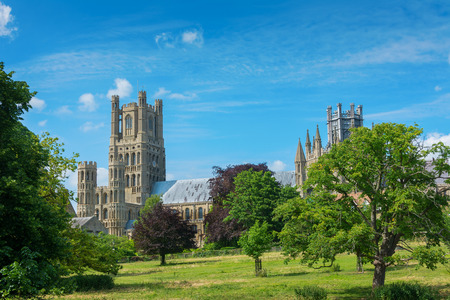 Ely cathedral in rural Cambridgeshire England