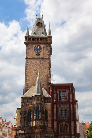 cronologia: El antiguo ayuntamiento de Praga en la República Checa Foto de archivo