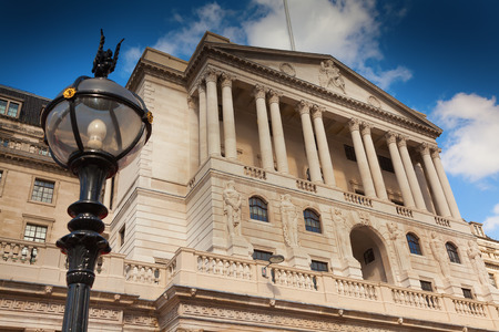 The Bank of England in Threadneedle Street London Stock Photo