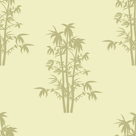 Seamless repeat background pattern of bamboo plants in silhouette.