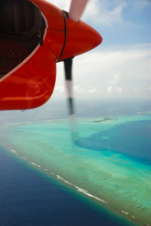 Flying over the Indian Ocean