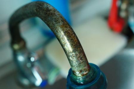 rust on water tap Stock fotó