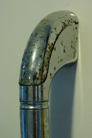 dregs on shower stand