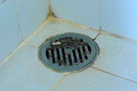 hairs on shower drain Stock fotó