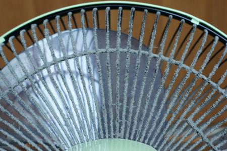 dust on fan Stock Photo