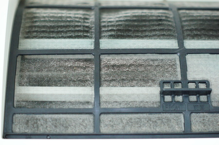 dust on air conditioner filter