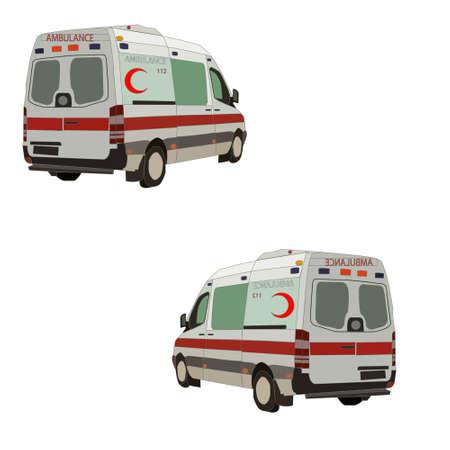 Turkey white ambulance drawing