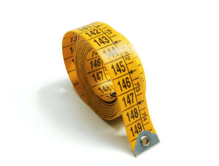 Sewing tape measure yellow for needlework and fashion