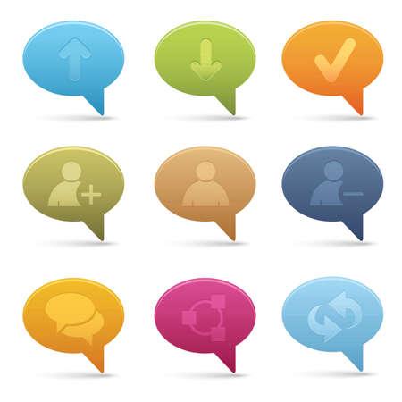 Bubble Chat Media Icons | 01 Illustration