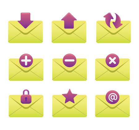 Website & Internet Icons | Envelopes 03 Illustration