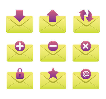 Website & Internet Icons | Envelopes 03 Illustration