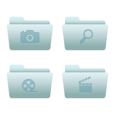 Website & Internet Icons Set | Blue Folders 06