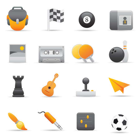 Entertainment Icons | Yellow 02  Professional set for your website, application, or presentation