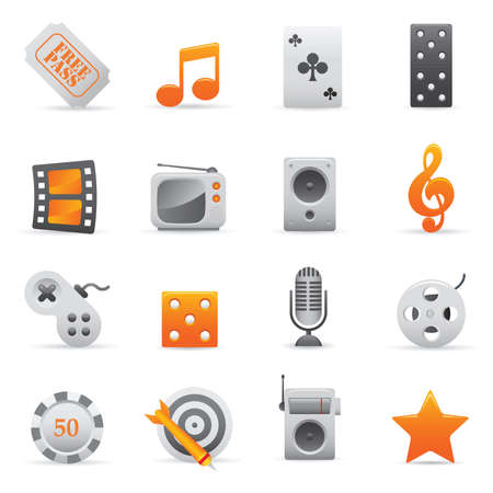 Entertainment Icons | Yellow 03  Professional set for your website, application, or presentation