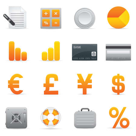 Finance Icons | Yellow 04  Professional icons for your website, application, or presentation Stock Vector - 7669811