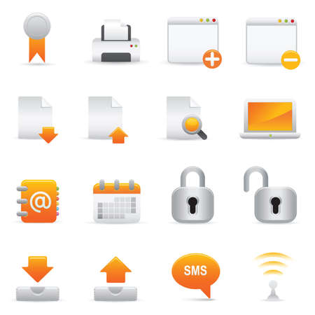 Internet Icons | Yellow 06 Professional icons for your website, application, or presentation