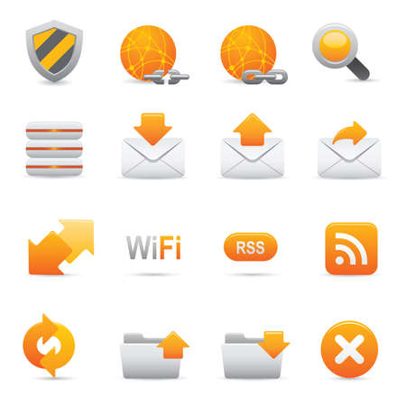 Internet Icons | Yellow 07 Professional icons for your website, application, or presentation Illustration