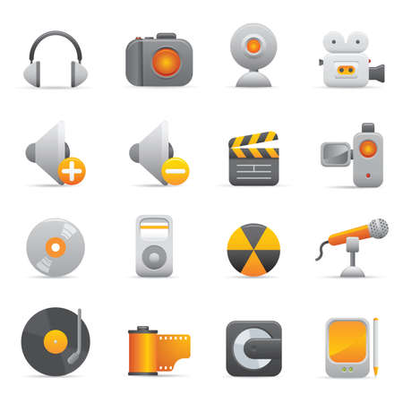 music machine: Multimedia Icons | Yellow 08 Professional icons for your website, application, or presentation