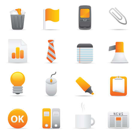 Office Icons | Yellow 10 Professional icons for your website, application, or presentation Illustration