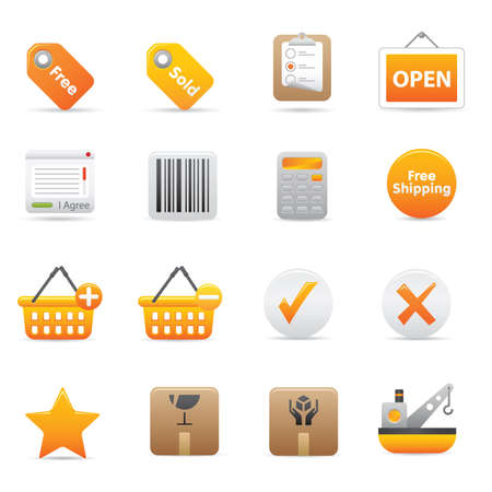 Shopping Icons | Yellow 14 Professional icons for your website, application, or presentation