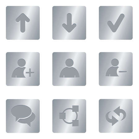 Chat Media Icons | Silver Square 01 Professional set for your website, application, or presentation
