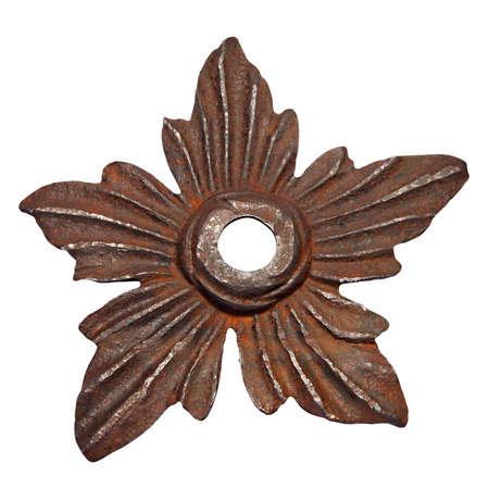 37 Iron Flower  Antique ornamental iron flower on white background