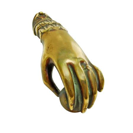 41 Knocker  Ancient bronze knocker shaped like a hand