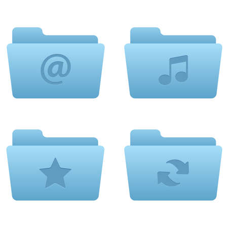 Internet Icons | Light Blue Folders 01 Professional icons for your website, application, or presentation Stock Vector - 7669751