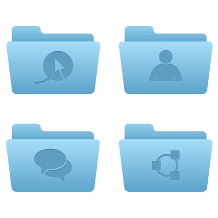 Internet Icons   Light Blue Folders 02 Professional icons for your website, application, or presentation Stock Vector - 7669793