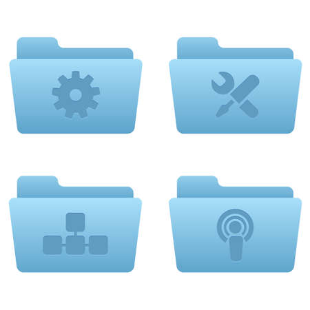 Internet Icons | Light Blue Folders 03 Professional icons for your website, application, or presentation Stock Vector - 7669801