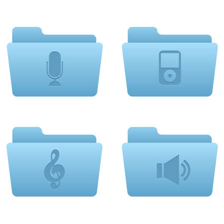 Professional icons for your website, application, or presentation Internet Icons | Light Blue Folders 05