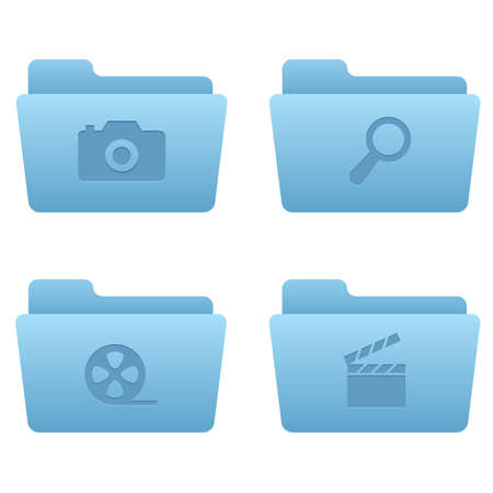 Professional icons for your website, application, or presentation Internet Icons | Light Blue Folders 06 Stock Vector - 7669797
