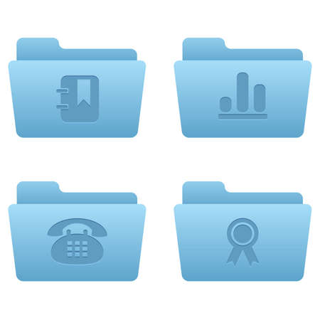 Internet Icons | Light Blue Folders 07 Professional icons for your website, application, or presentation Stock Vector - 7669800