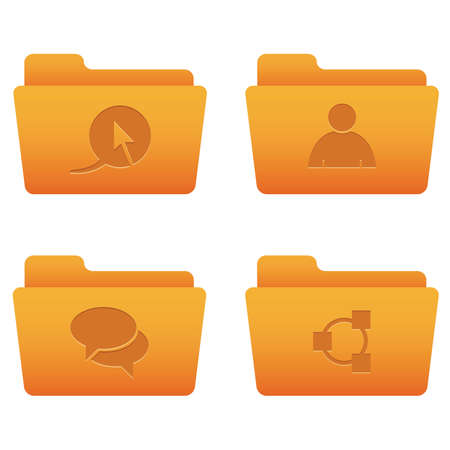 Professional icons for your website, application, or presentation Internet Icons | Orange Folders 02 Stock Vector - 7669794