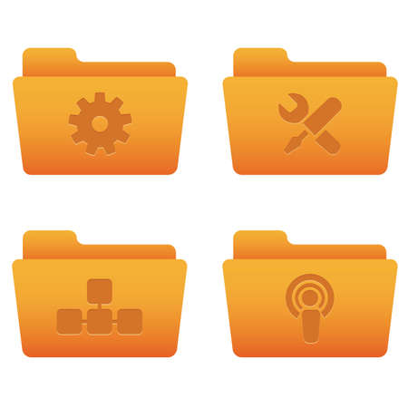 Professional icons for your website, application, or presentation Internet Icons | Orange Folders 03 Illustration