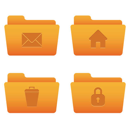 Professional icons for your website, application, or presentation Internet Icons | Orange Folders 04 Stock Vector - 7669792