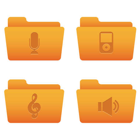 Professional icons for your website, application, or presentation Internet Icons | Orange Folders 05 Illustration