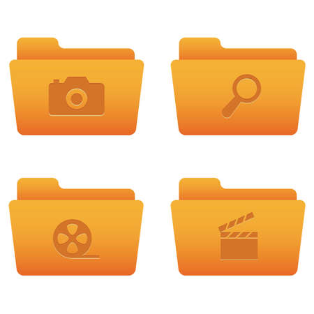 Professional icons for your website, application, or presentation Internet Icons | Orange Folders 06 Vector
