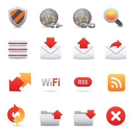 uploading: Icone di Internet 07 | Rossi icone professionali per il tuo sito Web, applicazione o presentazione Vettoriali