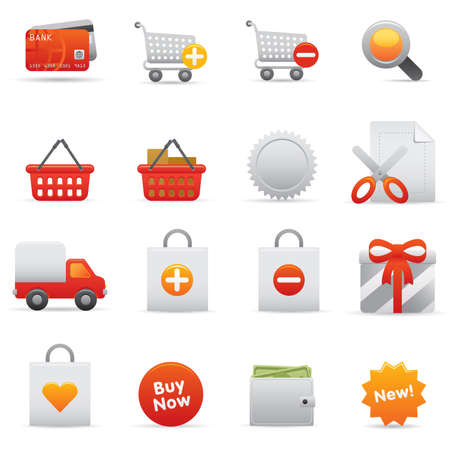 13 Shopping Icons | Red professional icons for your website, application, or presentation